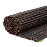 Zwarte bamboematten 2 meter hoog